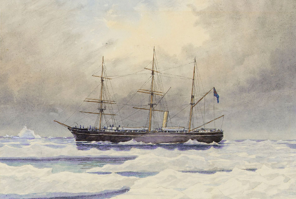 HMS-Discovery-1873-in-the-Arctic-0